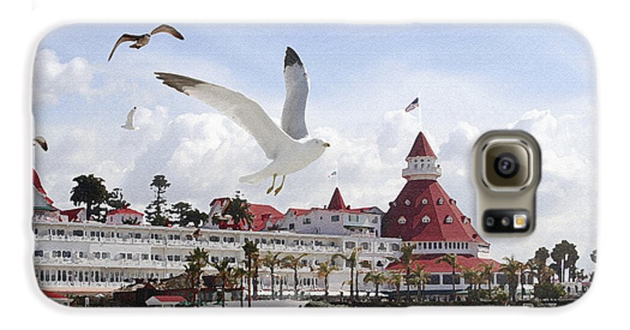 Beach Galaxy S6 Case featuring the photograph Morning Gulls On Coronado by Margie Wildblood