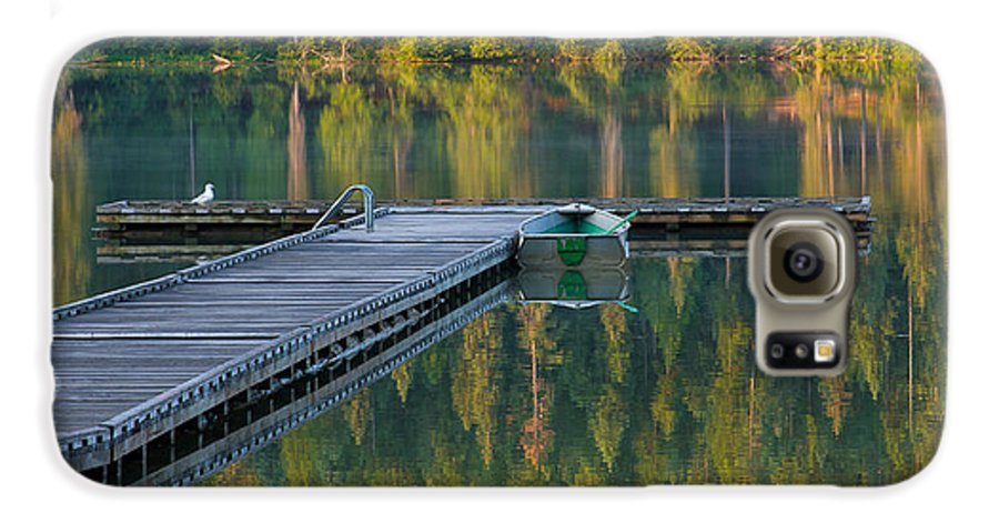 Dock Galaxy S6 Case featuring the photograph Morning Light by Idaho Scenic Images Linda Lantzy