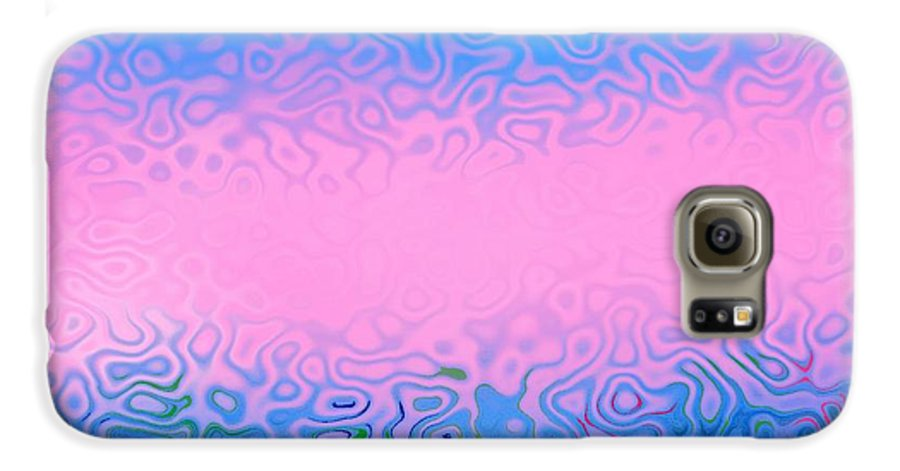 Morning.sea.fog.sun.water Illusions.morning Cold.colors Blue.rose. Galaxy S6 Case featuring the digital art Morning Sea Fog.cold Water by Dr Loifer Vladimir