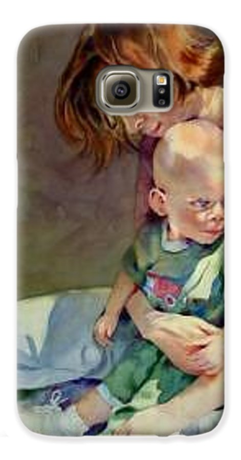 Mother And Child Galaxy S6 Case featuring the painting Mother Love by Marlene Gremillion