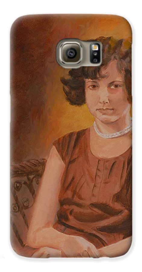 Woman Galaxy S6 Case featuring the painting Mother by Quwatha Valentine