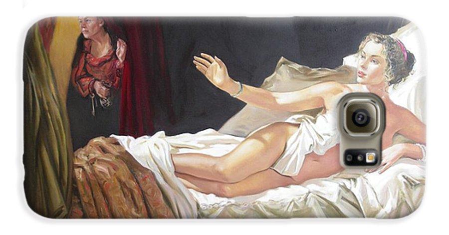 Ignatenko Galaxy S6 Case featuring the painting Motif Of Danae by Sergey Ignatenko