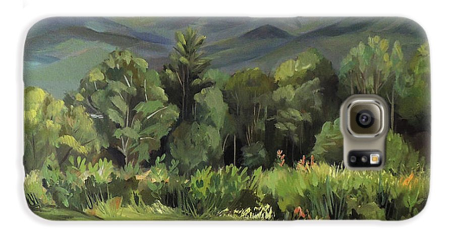 White Mountain Paintngs Galaxy S6 Case featuring the painting Mount Lafayette From Sugar Hill New Hampshire by Nancy Griswold