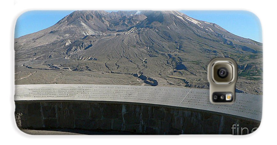 Volcano Galaxy S6 Case featuring the photograph Mount St. Helen Memorial by Larry Keahey