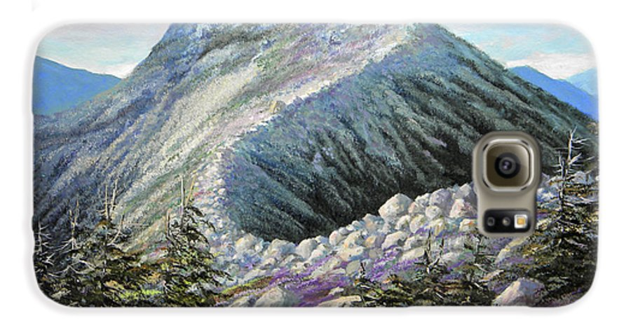 Landscape Galaxy S6 Case featuring the painting Mountain Ridge by Frank Wilson