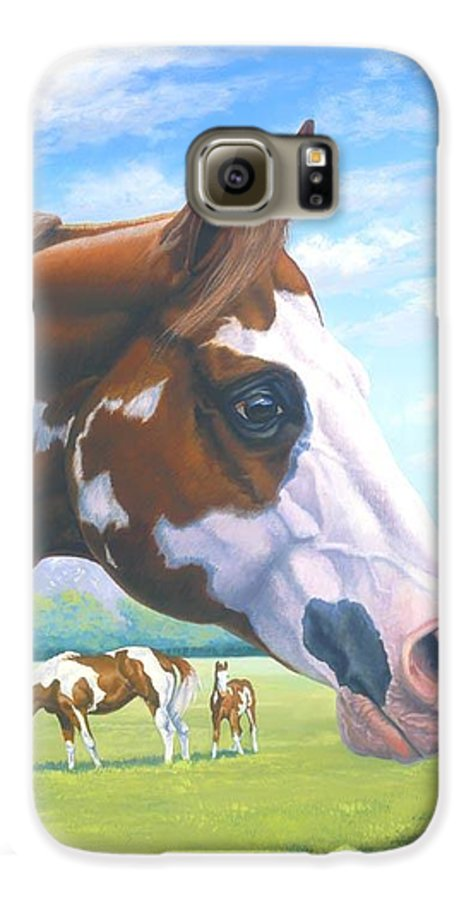 Paint Horse Galaxy S6 Case featuring the painting Mr. Norfleets Legacy by Howard Dubois