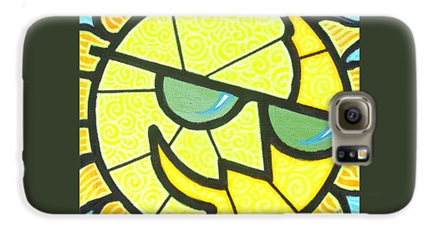 Sunshine Galaxy S6 Case featuring the painting Mr Sunny Day by Jim Harris