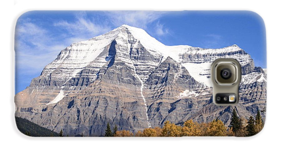 Rocky Mountain Galaxy S6 Case featuring the photograph Mt. Robson- Canada's Tallest Peak by Tiffany Vest