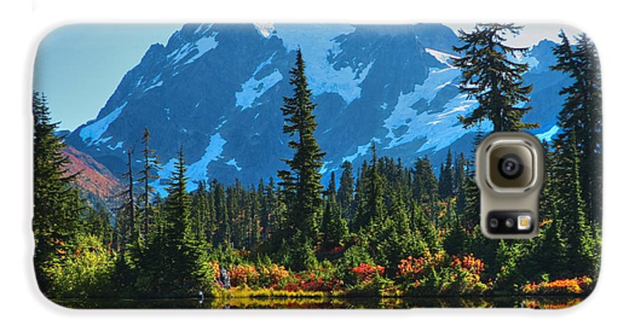 Mt. Shuksan Galaxy S6 Case featuring the photograph Mt. Shuksan by Idaho Scenic Images Linda Lantzy