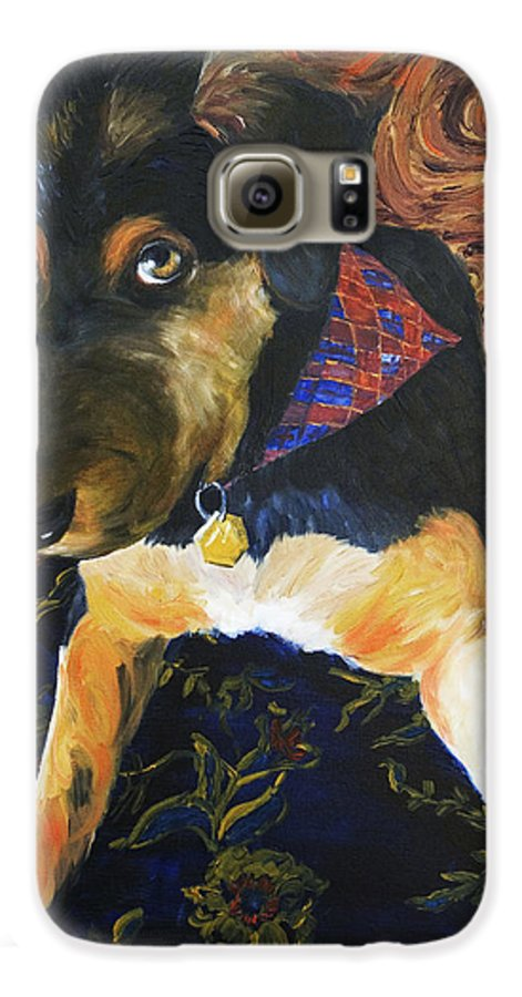 Dog Galaxy S6 Case featuring the painting Murphy I by Nik Helbig
