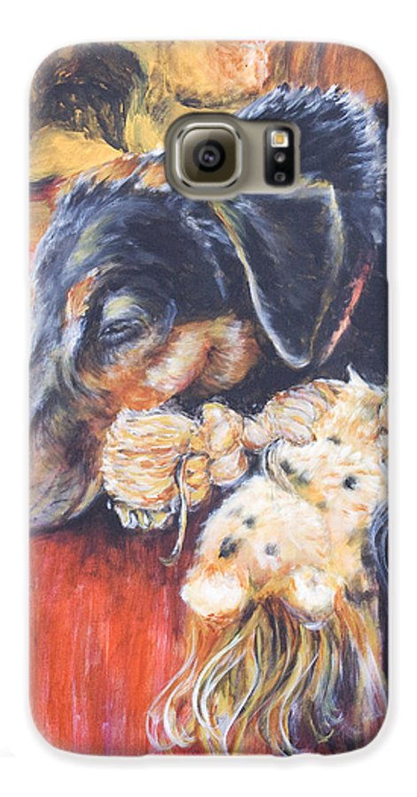 Dog Galaxy S6 Case featuring the painting Murphy Viii by Nik Helbig