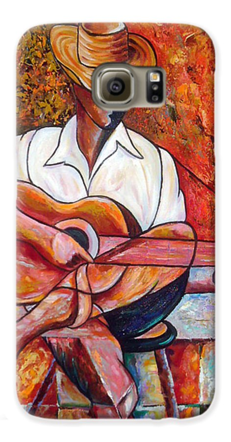 Cuba Art Galaxy S6 Case featuring the painting My Guitar by Jose Manuel Abraham