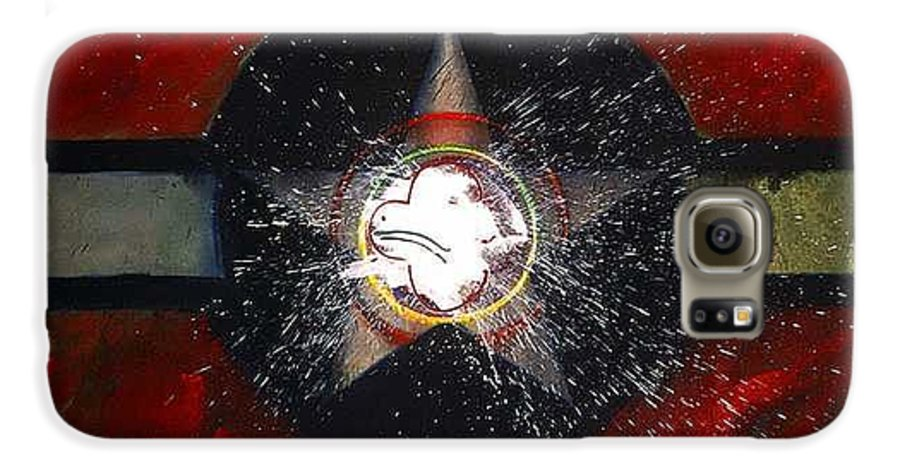 Usaaf Insignia Galaxy S6 Case featuring the painting My Indian Red by Charles Stuart