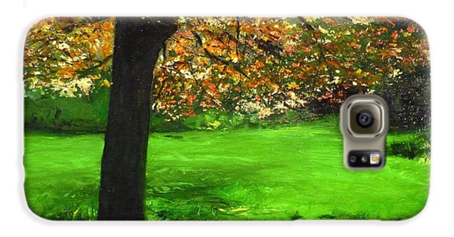 Spiritualism Galaxy S6 Case featuring the painting My Love Of Trees I by Lizzy Forrester