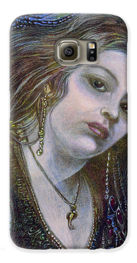 Fantasy Galaxy S6 Case featuring the painting My Mermaid Christan by Otto Rapp