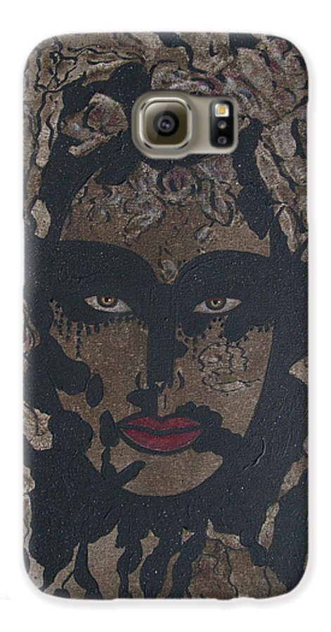 Figurative Galaxy S6 Case featuring the painting Mysterious Desire by Natalie Holland
