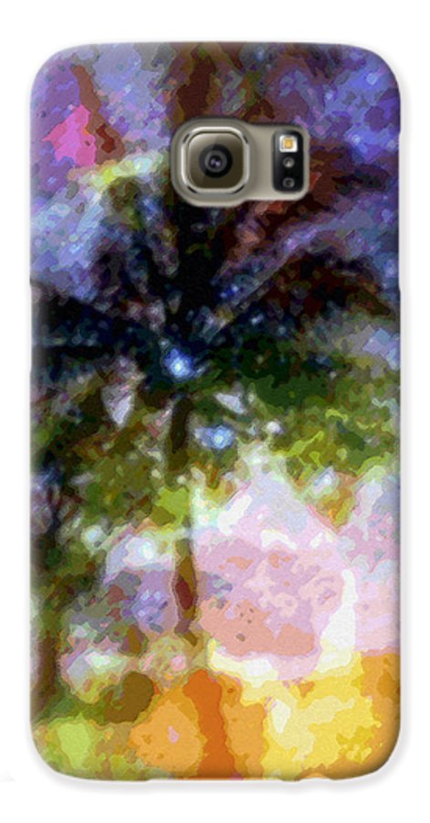 Tropical Interior Design Galaxy S6 Case featuring the photograph Mystic Palm by Kenneth Grzesik