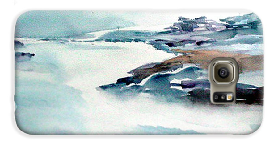 River Galaxy S6 Case featuring the painting Mystic River by Anil Nene