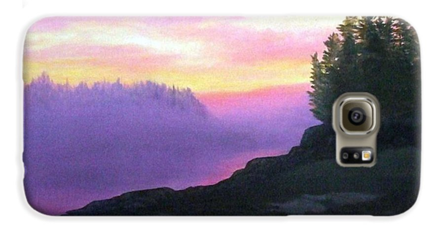 Sunset Galaxy S6 Case featuring the painting Mystical Sunset by Sharon E Allen