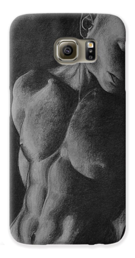Man Galaxy S6 Case featuring the drawing Naked Man by Trisha Lambi