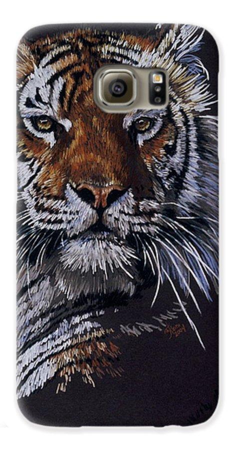 Tiger Galaxy S6 Case featuring the drawing Nakita by Barbara Keith