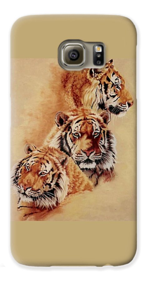 Tiger Galaxy S6 Case featuring the pastel Nanook by Barbara Keith