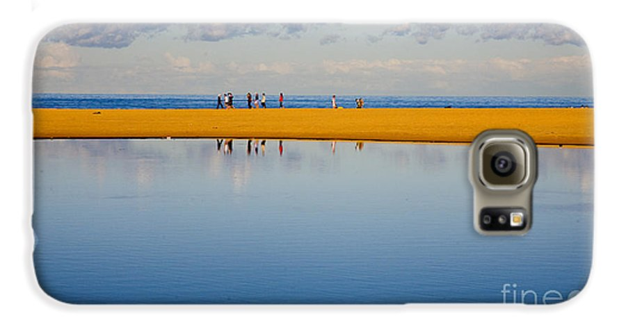 Dunes Lowry Sand Sky Reflection Sun Lifestyle Narrabeen Australia Galaxy S6 Case featuring the photograph Narrabeen Dunes by Sheila Smart Fine Art Photography