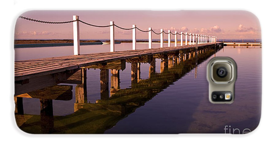 Narrabeen Sydney Sunrise Wharf Walkway Galaxy S6 Case featuring the photograph Narrabeen Sunrise by Avalon Fine Art Photography