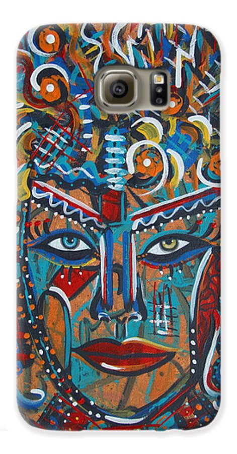Abstract Galaxy S6 Case featuring the painting Nataliana by Natalie Holland