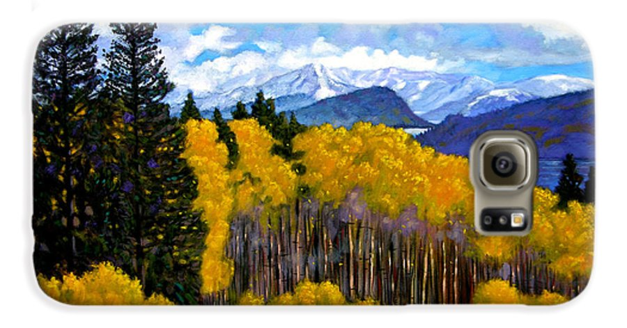 Fall Galaxy S6 Case featuring the painting Natures Patterns - Rocky Mountains by John Lautermilch