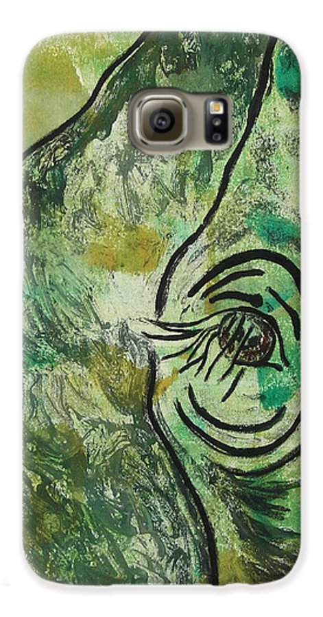 Monotype Galaxy S6 Case featuring the mixed media Never Forgotten by Cori Solomon