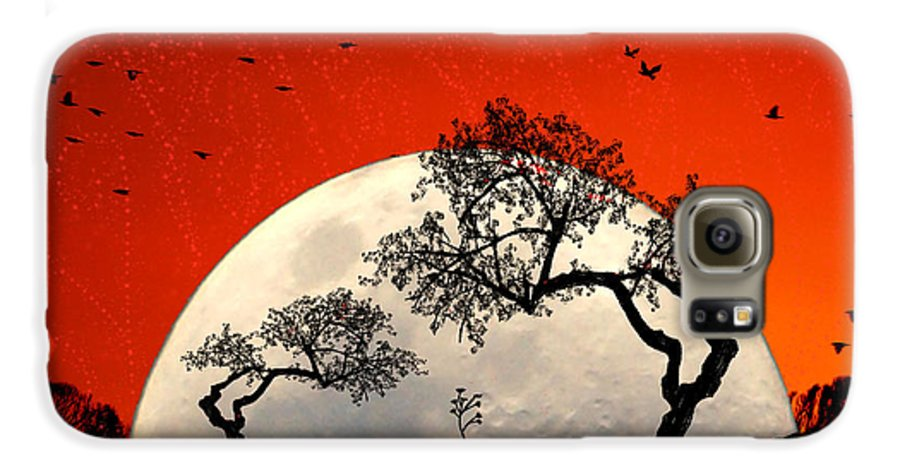 Moon Galaxy S6 Case featuring the digital art New Growth New Hope by Holly Kempe