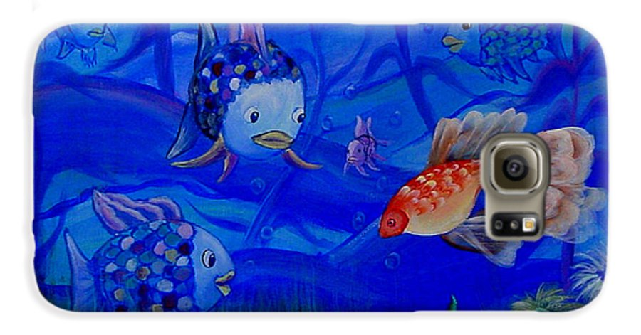 Fish Galaxy S6 Case featuring the painting New Kid In Town by Quwatha Valentine