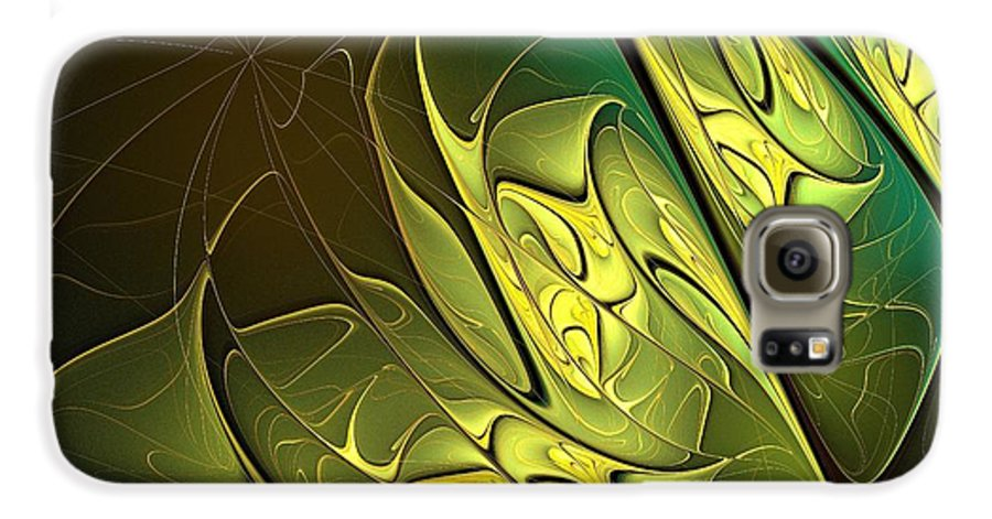 Digital Art Galaxy S6 Case featuring the digital art New Leaves by Amanda Moore