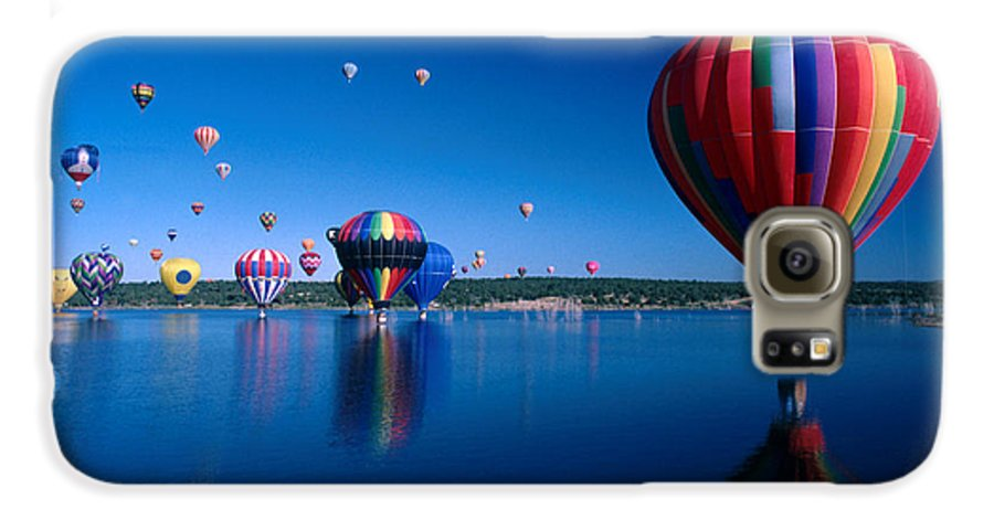 Hot Air Balloon Galaxy S6 Case featuring the photograph New Mexico Hot Air Balloons by Jerry McElroy