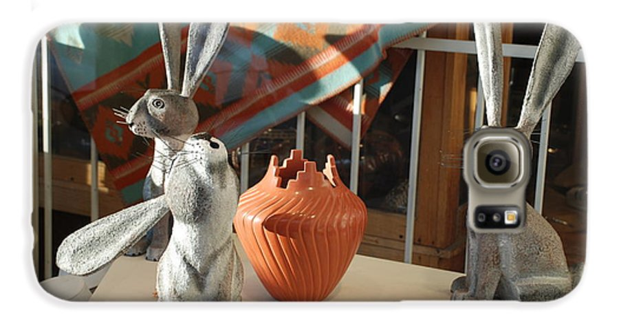 Rabbits Galaxy S6 Case featuring the photograph New Mexico Rabbits by Rob Hans