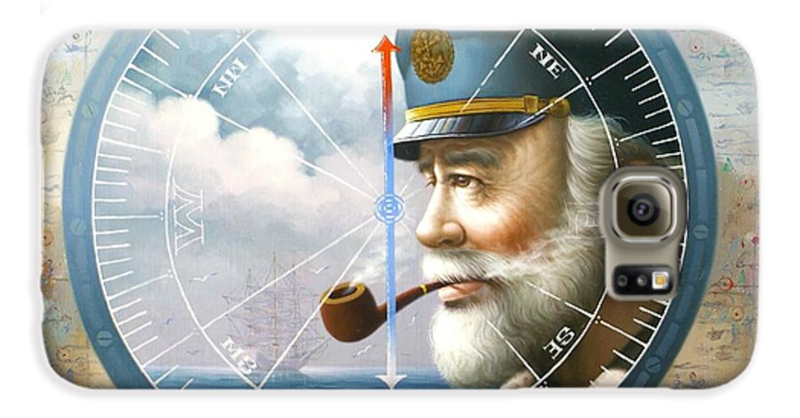 Sea Captain Galaxy S6 Case featuring the painting News Map Captain Or Sea Captain by Yoo Choong Yeul
