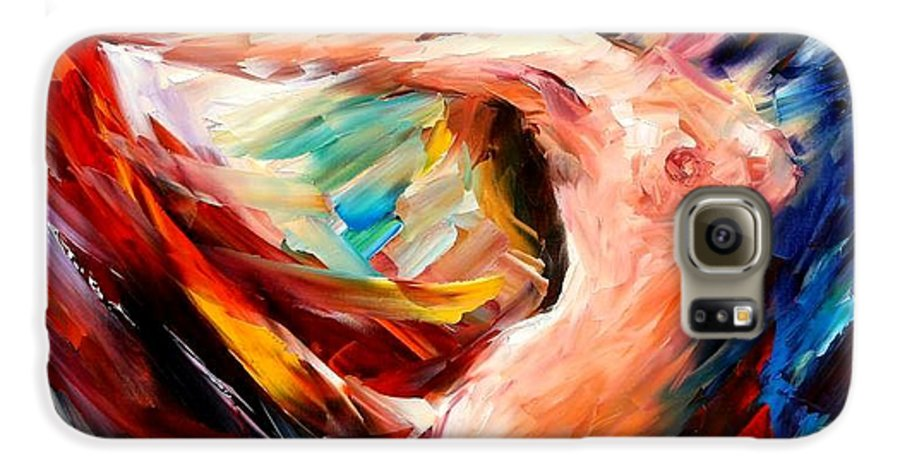 Nude Galaxy S6 Case featuring the painting Night Flight by Leonid Afremov
