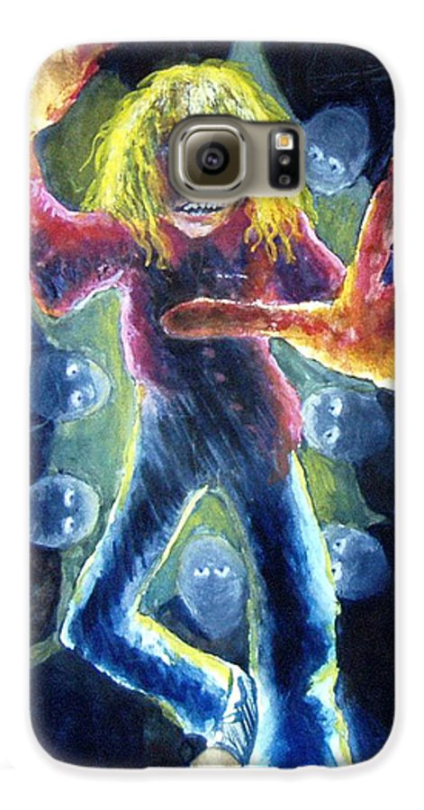 Nightmare Galaxy S6 Case featuring the painting Nightmare by Nancy Mueller