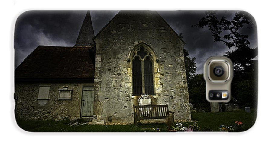 Church Galaxy S6 Case featuring the photograph Norman Church At Lissing Hampshire England by Avalon Fine Art Photography