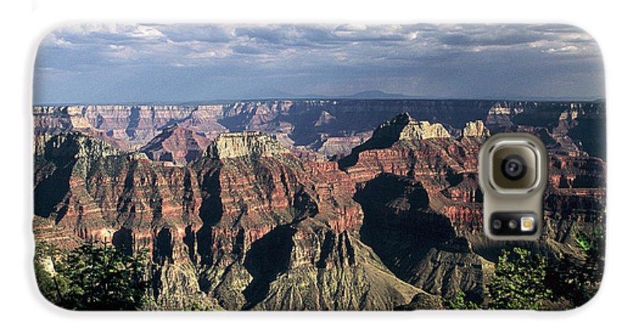 Grand Canyon; National Parks Galaxy S6 Case featuring the photograph North Rim by Kathy McClure