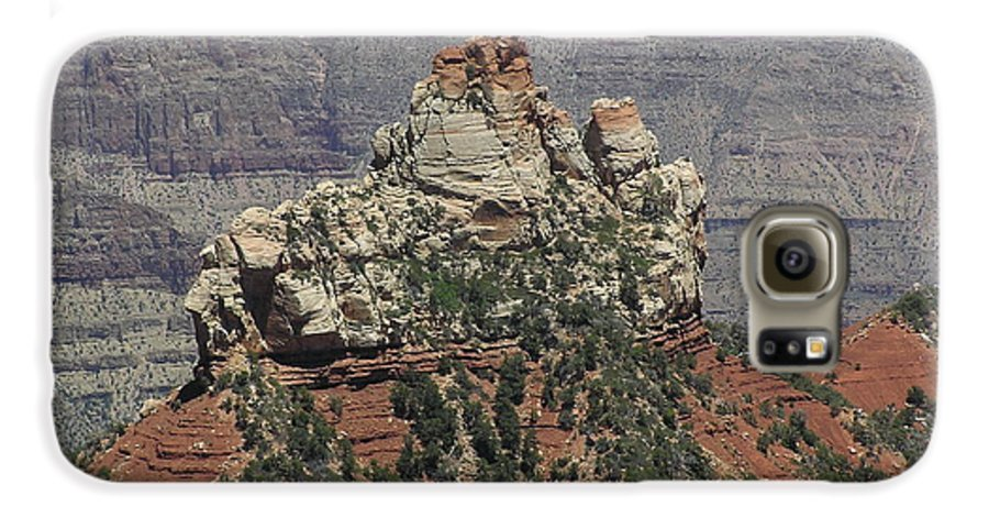 Rock Galaxy S6 Case featuring the photograph North Rim Rock by Louise Magno