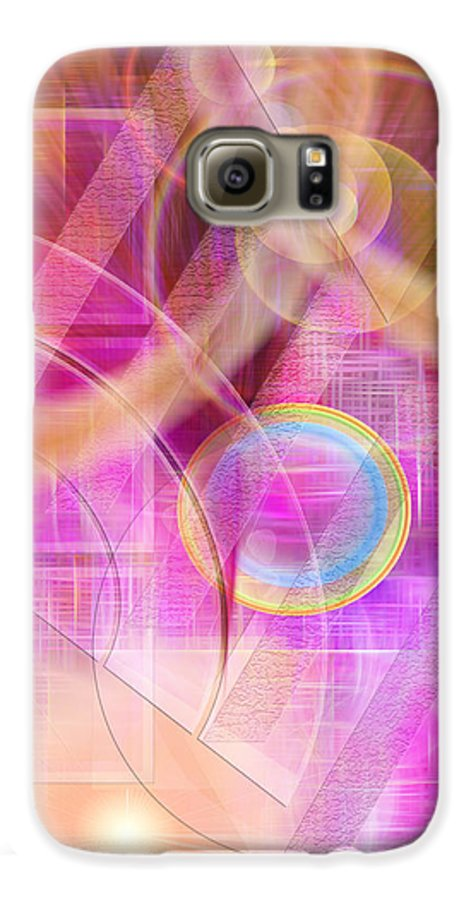 Northern Lights Galaxy S6 Case featuring the digital art Northern Lights by John Beck
