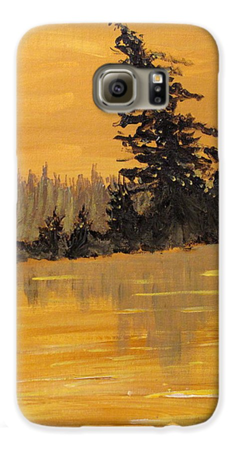 Northern Ontario Galaxy S6 Case featuring the painting Northern Ontario Three by Ian MacDonald