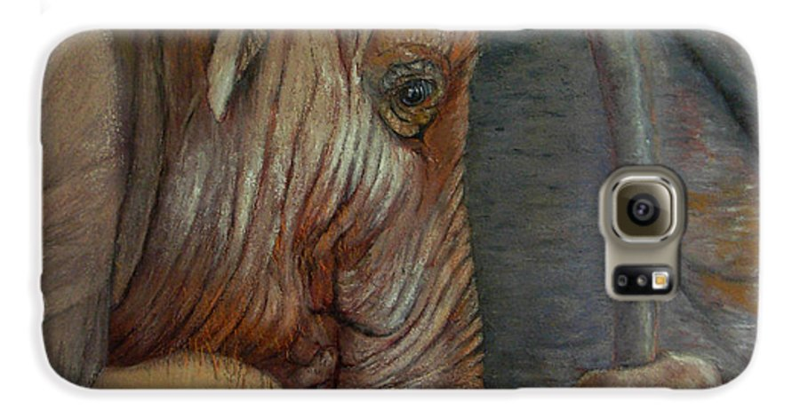 Africa Galaxy S6 Case featuring the painting Now You Hold On Tight by Ceci Watson