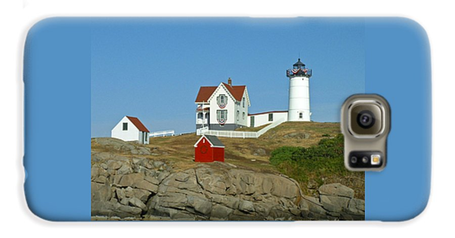 Nubble Galaxy S6 Case featuring the photograph Nubble Light by Margie Wildblood