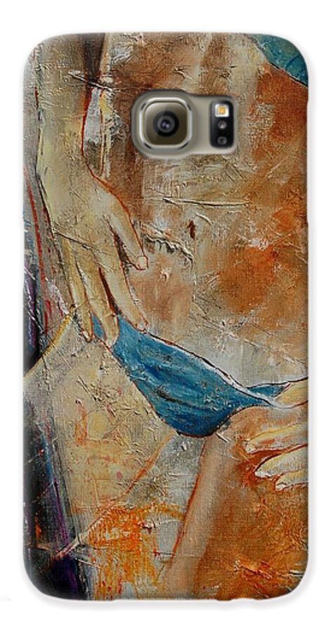 Girl Nude Galaxy S6 Case featuring the painting Nude 450608 by Pol Ledent