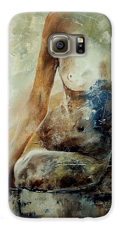 Nude Galaxy S6 Case featuring the painting Nude 560408 by Pol Ledent