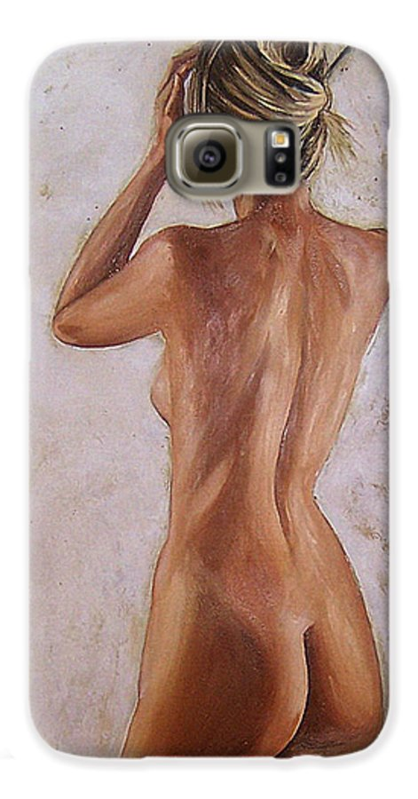 Nude Galaxy S6 Case featuring the painting Nude by Natalia Tejera