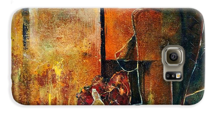 Woman Girl Fashion Nude Galaxy S6 Case featuring the painting Nude by Pol Ledent